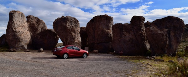 Car camping at City of Rocks NM
