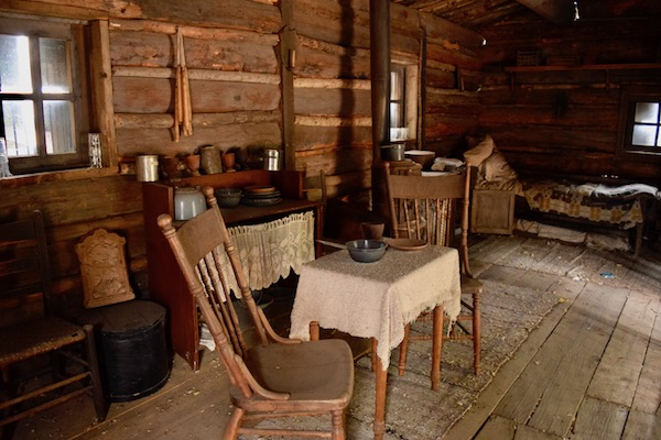 Inside Billy the Kid's house