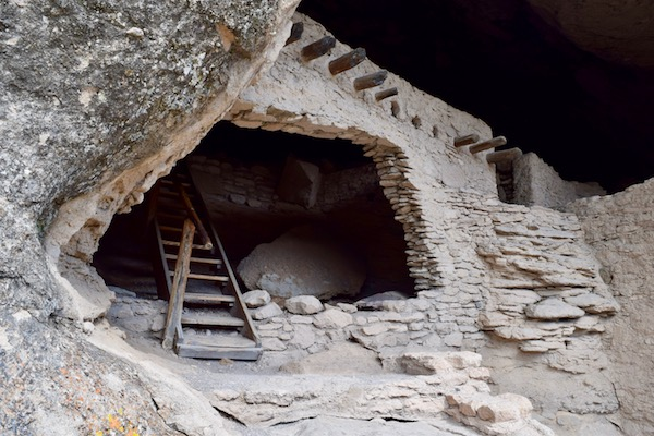 Cave entrance at Gila Cliff Dwellings