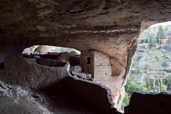 View inside Gila Cliff Dwellings