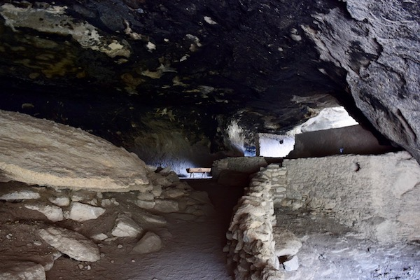 Inside Gila Cliff Dwellings
