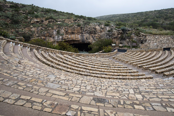 Amphitheatre for ranger talks at Carlsbad