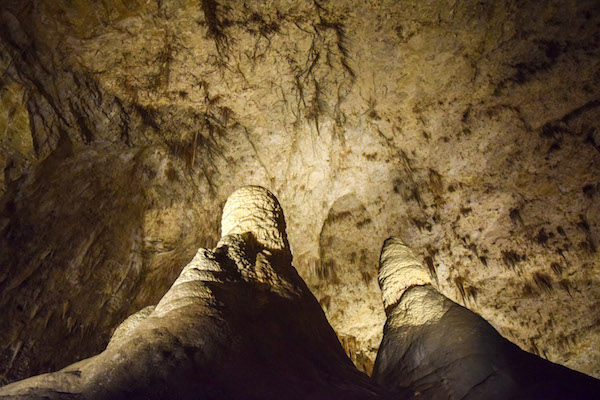 Unusual rock formations at Carlsbad Caverns