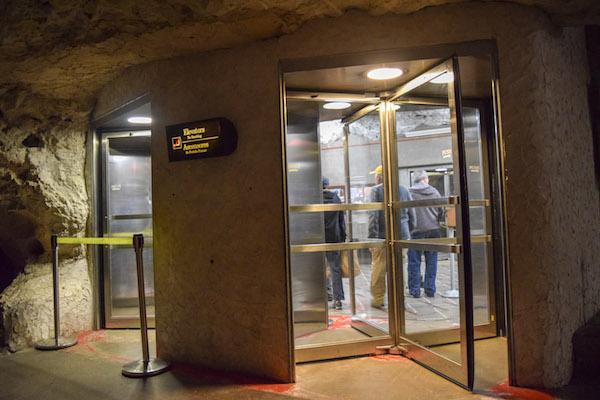 Cave elevator at Carlsbad Cavern