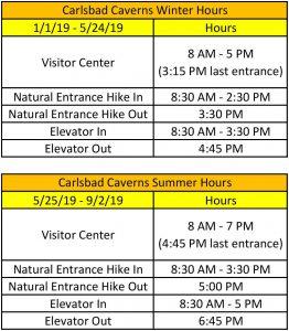 Carlsbad Caverns National Park Hours