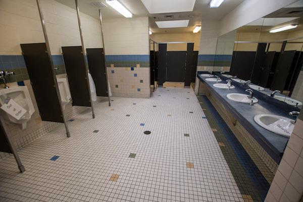 Inside mens restroom at Carlsbad Caverns