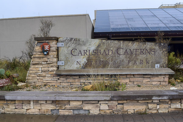 Carlsbad Caverns Visitor Center sign