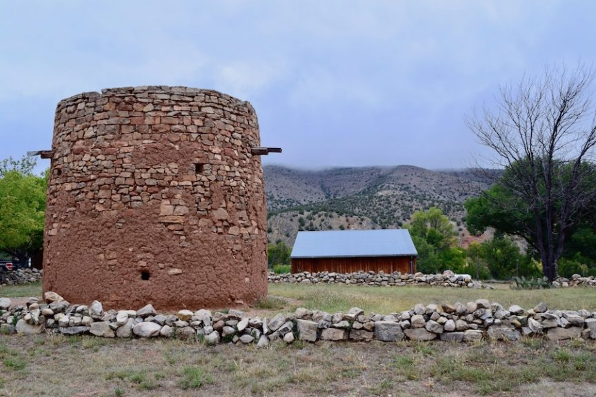 Watch tower and house at Lincoln Historic Site