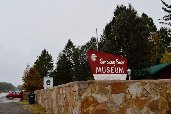 Smokey Bear Historical Park sign