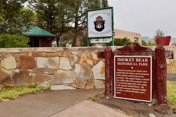Smokey Bear Museum sign