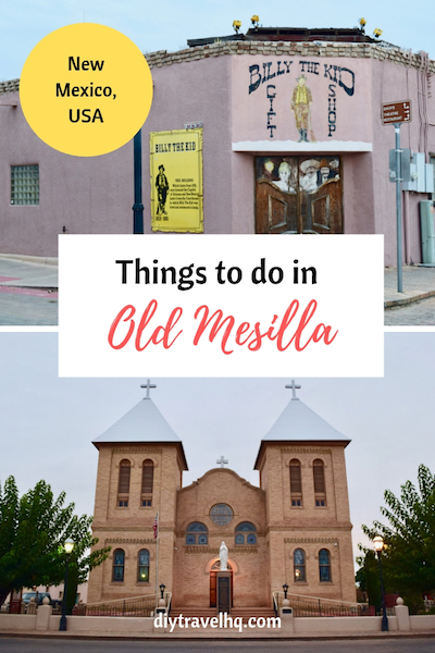 Billy the Kid gift shop and Messila church