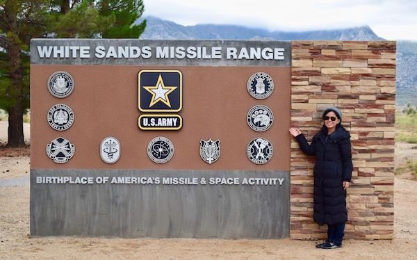 White Sands Missile Range sign