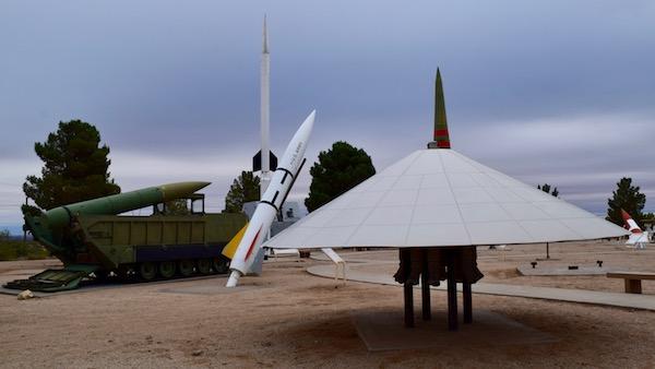 UFO missile at White Sands Missile Range