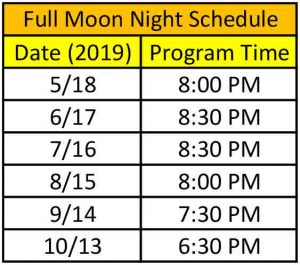 White Sands National Monument Full Moon Night Schedule