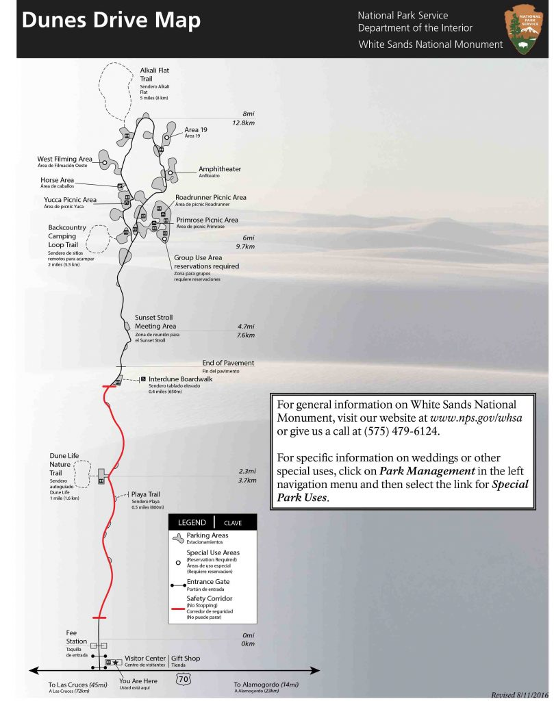White Sands National Monument Map