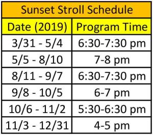 White Sands National Monument Sunset Stroll Schedule 2019