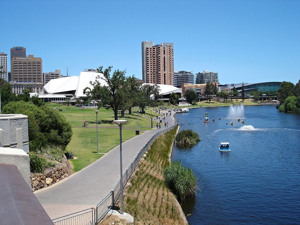View of River bank and River Torrens - Places to visit in Adelaide