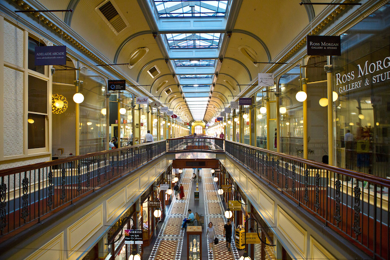 Inside Adelaide Arcade - what to do in Adelaide