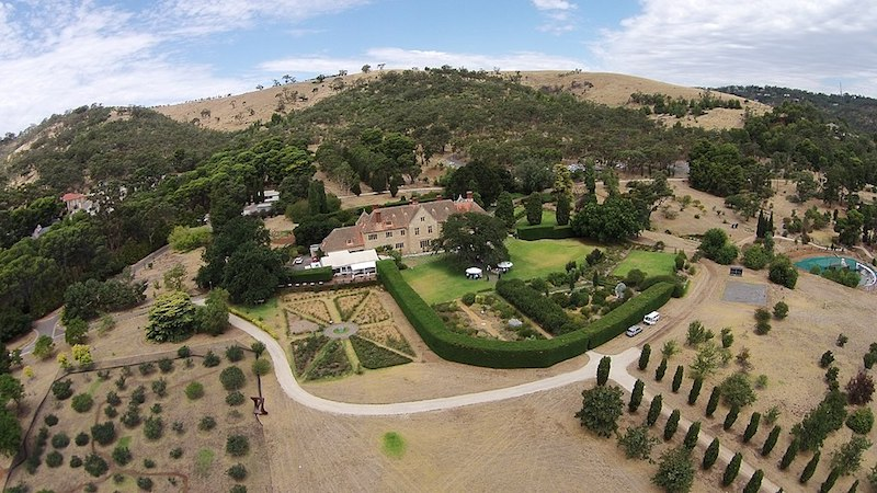Aerial view of Carrick Hill - Adelaide day trip