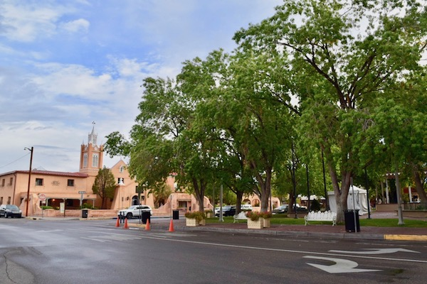 Church and big tree in Albuquerque Old Town