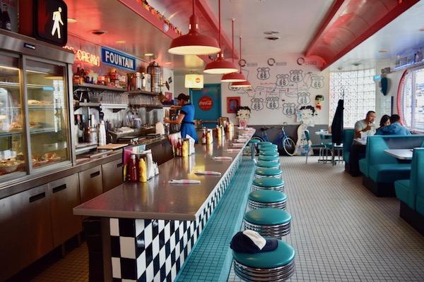 Inside 66 Diner Albuquerque