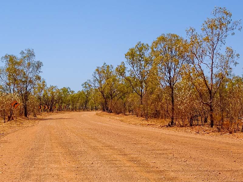 Australian Outback Road Trip Dirt Road