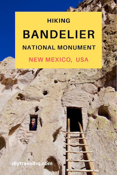 Pinterest image of Bandelier National Monument