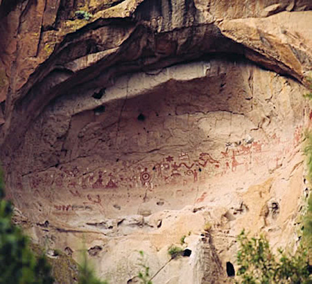 Painted Cave at Bandelier National Monument
