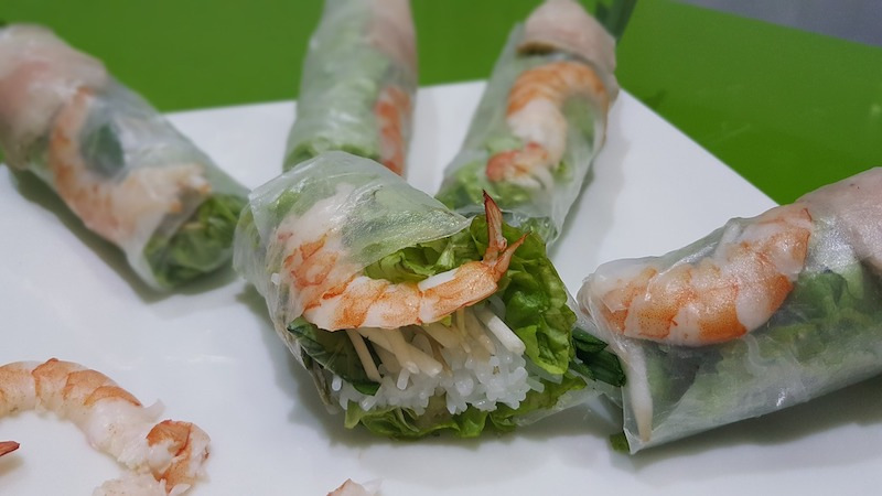 Adelaide Restaurants - Vietnames cold rolls on plate