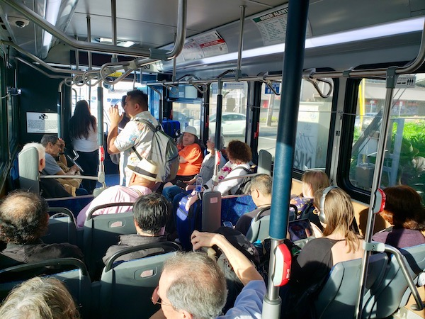 Packed Oahu bus - Oahu public transport