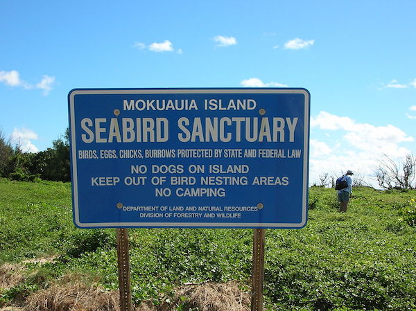 Sign on Goat Island - Interesting things to do in Oahu