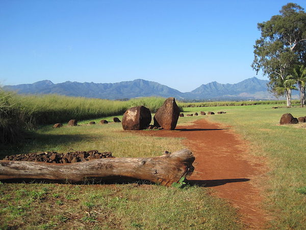 Kukaniloko Birthing Stones in a field