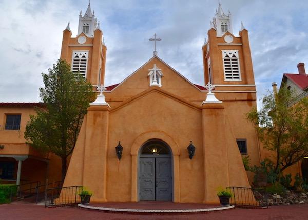 Outside San Felipe de Neri Church