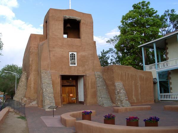 San Miguel adobe church in Santa Fe