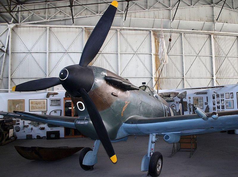 Propeller plane in hangar - Adelaide museums