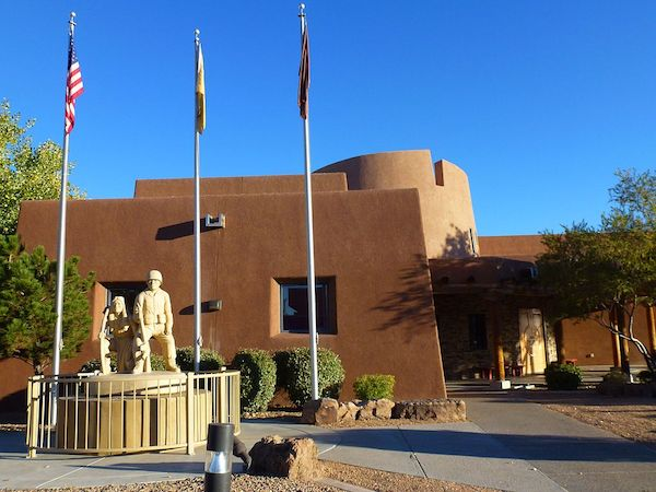 Outside Indian Pueblo Cultural Center