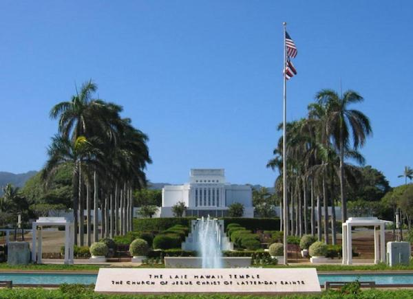 Outside Laie Hawaii Temple  - Oahu attraction