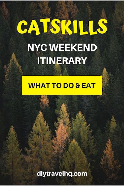 The Catskills Mountains in New York make the best NYC weekend getaway - there are many things to do in the Catskills in fall, winter, summer or spring. Find out where to stay, what to do and where to eat in our Catskills weekend itinerary #catskills #nyctravel #diytravel