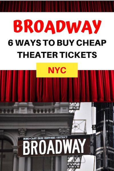 Seeing a Broadway Theater show in NYC should be on every bucket list - and Broadway tickets can be more affordable than you think. Find out 6 easy ways to buy cheap Broadway tickets in New York City #broadway #nyctravel #nyctips #diytravel