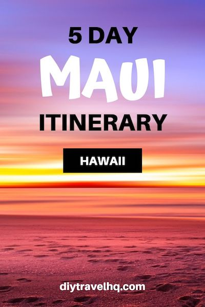 Are you planning a Maui Hawaii vacation or honeymoon? There are many things to do in Maui so you'll need at least 5 days. Check out our Maui itinerary for ideas on what to see, do and eat #maui #hawaii #mauitravel #diytravel