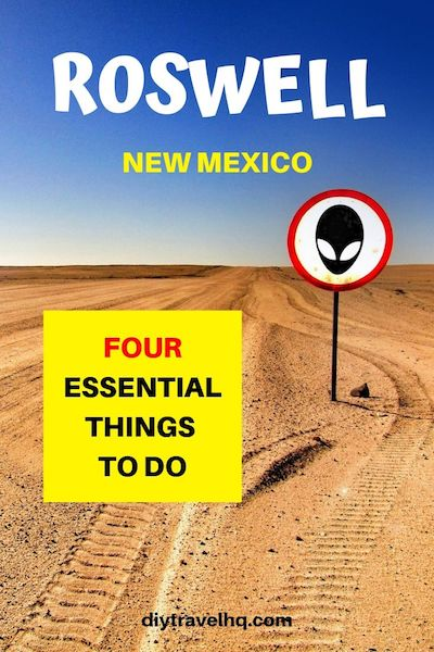 Planning a New Mexico road trip? Put Roswell on your New Mexico itinerary! Check out our post for New Mexico travel tips and the 4 must-visit things to do in Roswell New Mexico #roswell #newmexico #newmexicotravel #diytravel