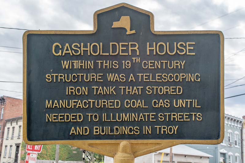 Troy NY Coal Gasholder House Historic Marker Sign