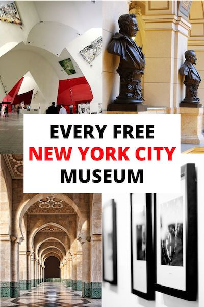 There are so many New York City museums that are free! Check out our complete list of free and pay-what-you-wish New York museums by day and decide for yourself which are the best New York City museums! #nycmuseums #newyorktravel #nyctravel #newyorkcitytravel