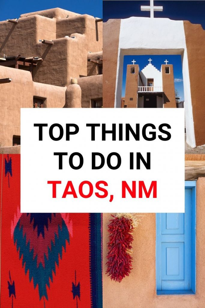 There are so many things to do in Taos New Mexico - in winter or summer! From hiking to restaurants check out our list of the top attractions and activities in this charming pueblo town #taos #newmexico #usroadtrip
