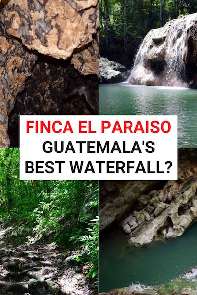 Swimming at Finca El Paraiso is one of the best things to do in Rio Dulce - but is it the best waterfall in Guatemala? Find out how to get there & decide for yourself! #fincaelparaiso #guatemala #riodulce