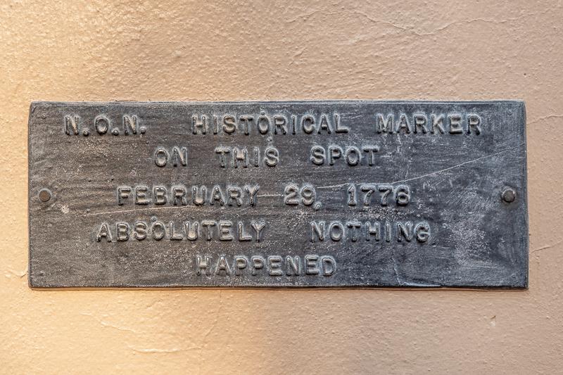 Lexington VA Plaque Commemorating Nothing Happened