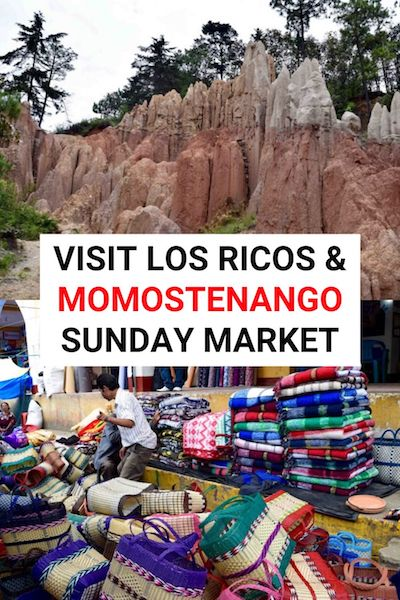 You can find one of the best markets at Momostenango, Guatemala- shop for a Momostenango wool blanket and more! While you're there check out the amazing Los Ricos rock formation. Find out more in our Momostenango travel guide #guatemala #momostenango #centralamerica