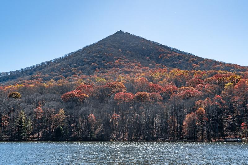 Peaks of Otter Lake and Sharp Top Mountain Blue Ridge Parkway Virginia