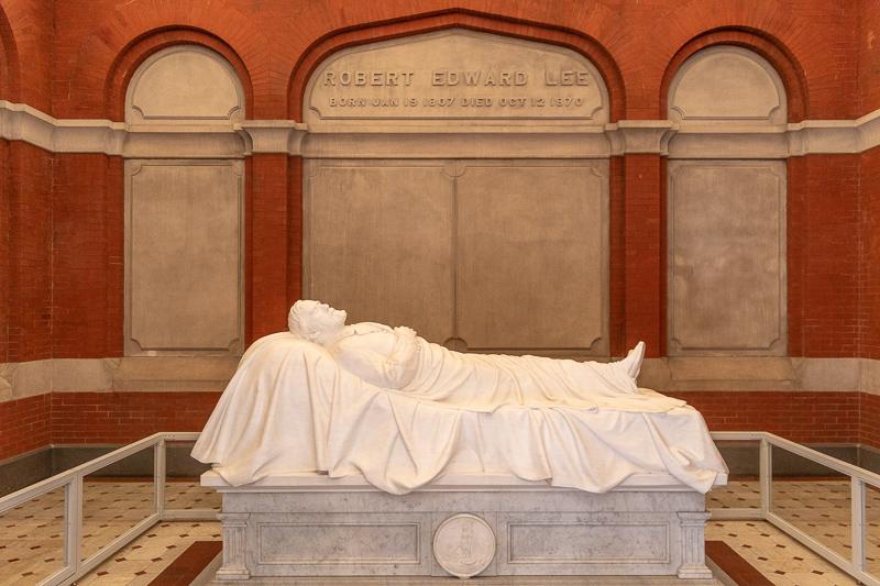 Robert E. Lee Grave in Lee Chapel and Museum Lexington VA