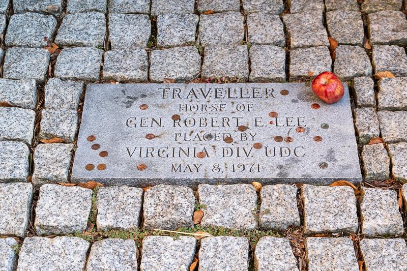 Robert Edward Lee's Horse Traveller Grave Outside Lee Chapel and Museum Lexington VA